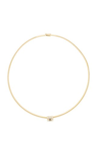 Clarity Cube 18K Gold Choker Necklace