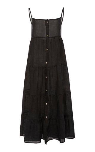 The Flounce Ramie Tiered Ruffle Dress