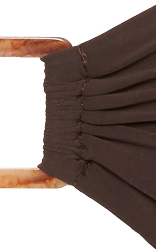 The Tortoise Ring-Detailed Bandeau Bikini Top