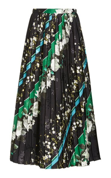 Nolana Pleated Jersey Midi Skirt