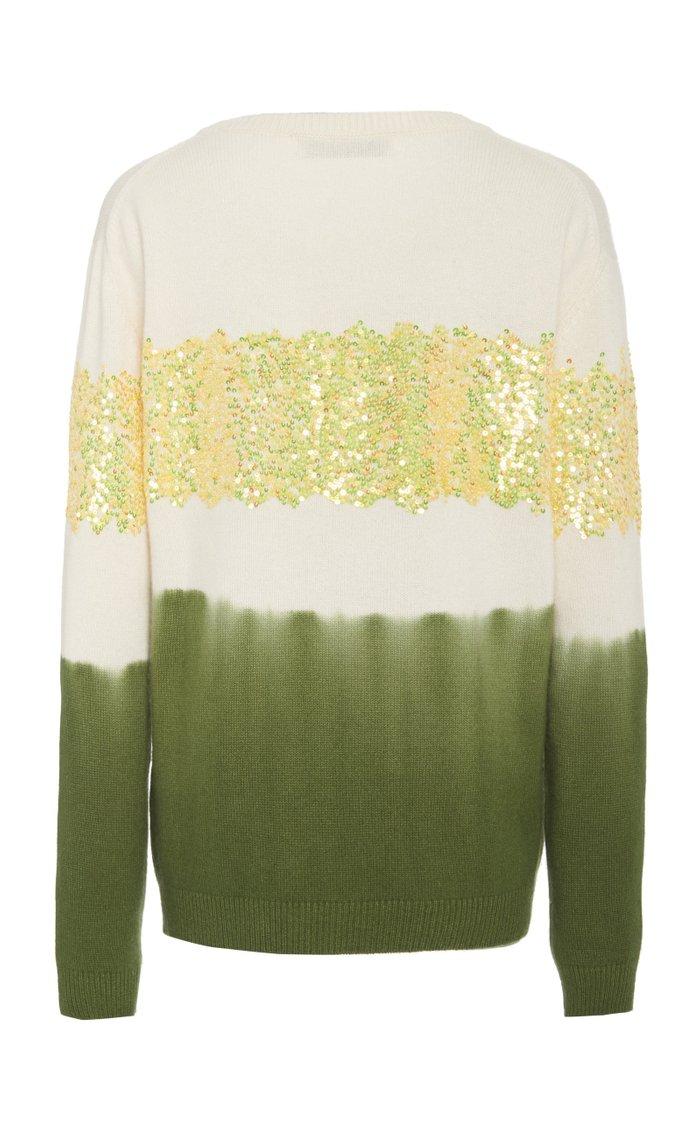Sequin Embellished Cashmere Sweater