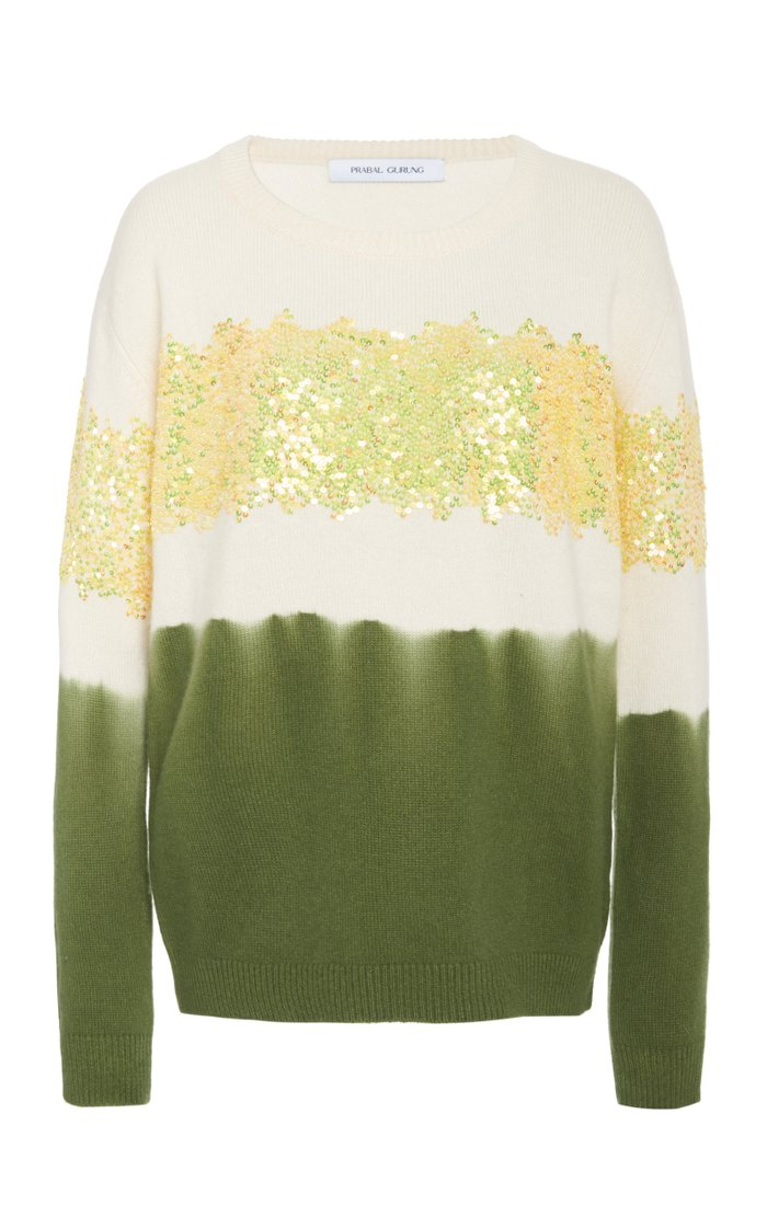 Sequin Embellished Cashmere Sweater