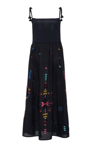 Azalea Smocked Cotton Midi Dress