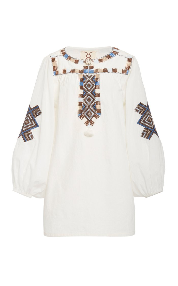 Nara Cotton V-Neck Tunic