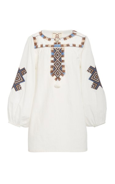 Nara Cotton V-Neck Tunic
