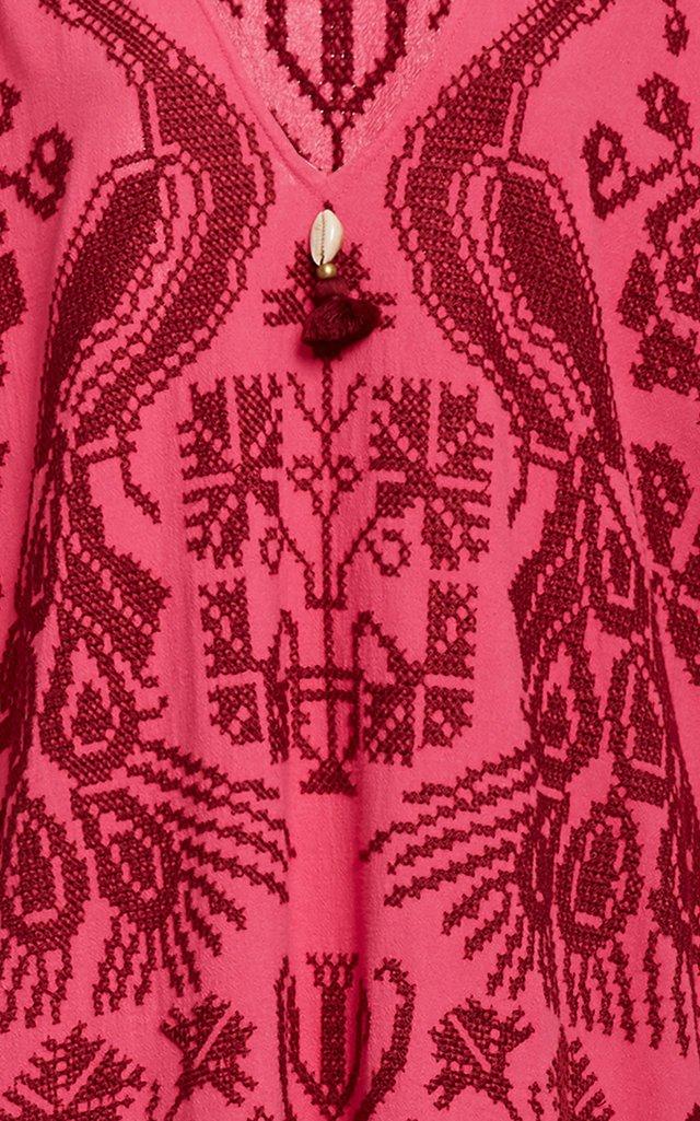 Eliza Cotton Embroidered Caftan