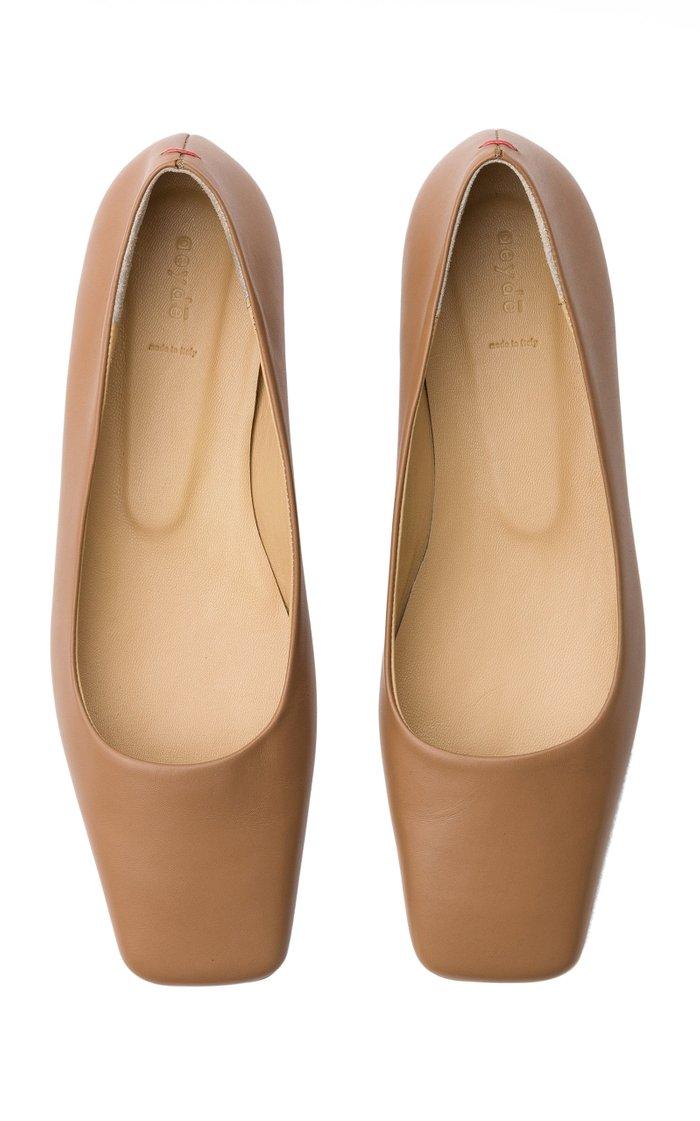 Gina Leather Flats