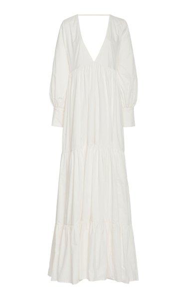 Circle Day Cotton Maxi Dress