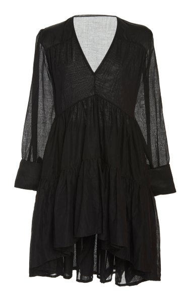 Vega Pleated Cotton Tunic Dress