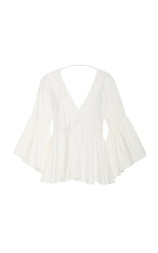 Maia Open-Back Cotton Top