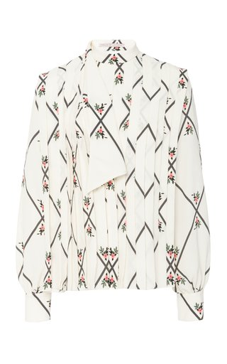 Cody Printed Silk Top