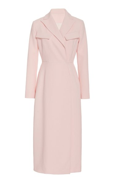 Arlan Wrap-Effect Crepe Dress