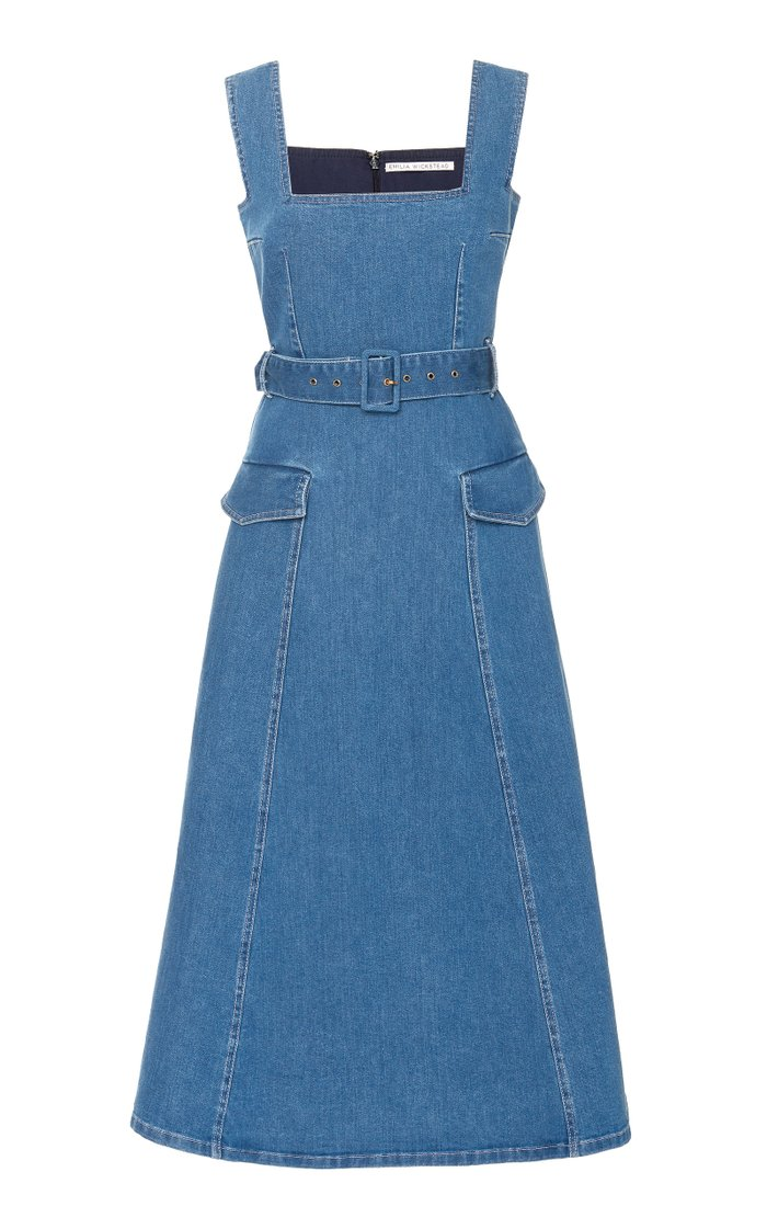 Petra Belted Denim Dress