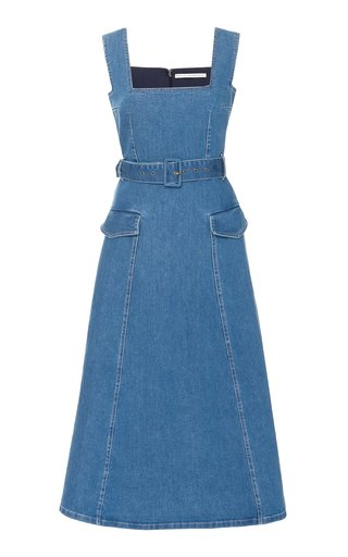 Petra Belted Denim Dress