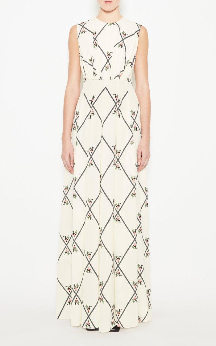Giordana Printed Silk Maxi Dress