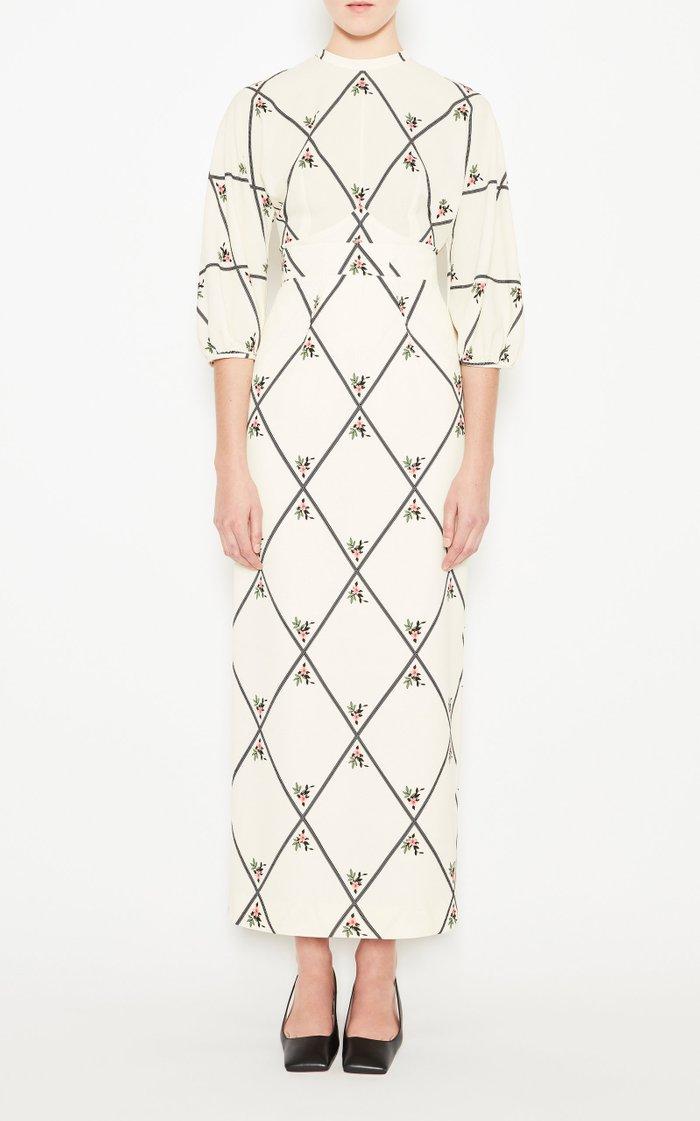 Sylvie Printed Silk Top