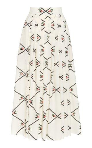 Scottie Pleated Silk Skirt