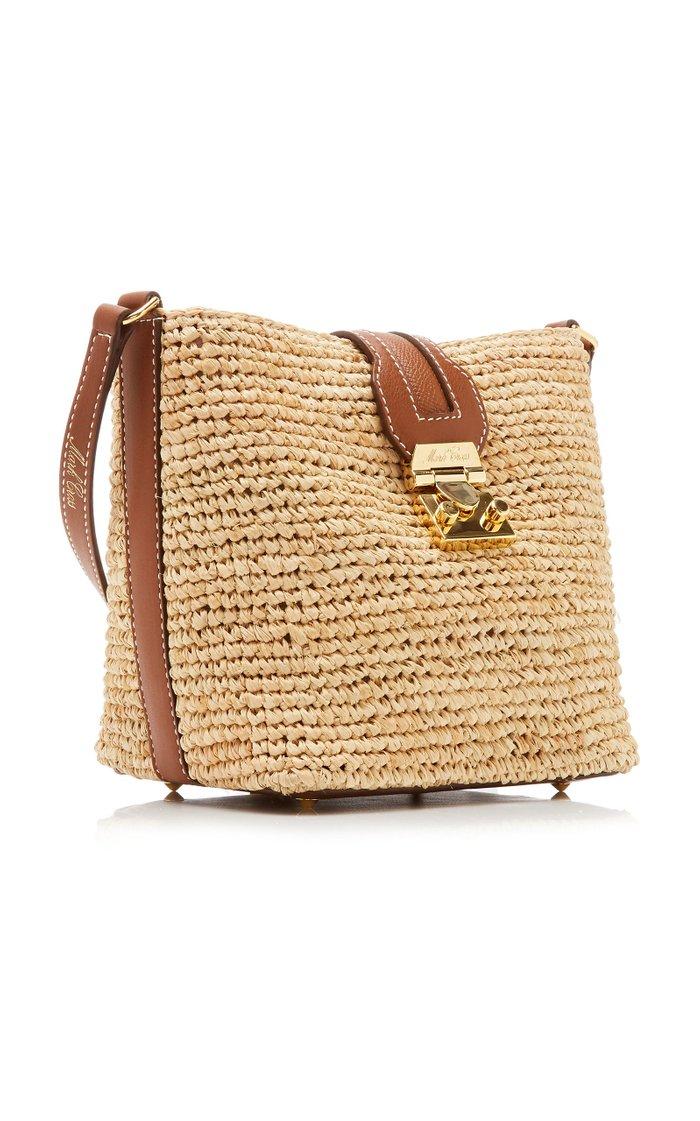 Murphy Mini Raffia Crossbody Bag