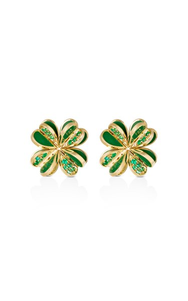 Lucky You Emerald Earrings