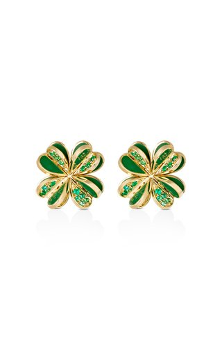 Lucky You Emerald Earrings