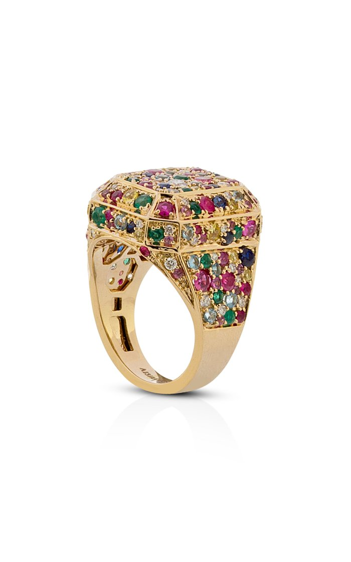 18K Yellow Gold Disco Ring