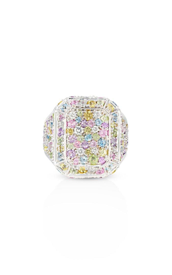 18K White Gold Disco Ring