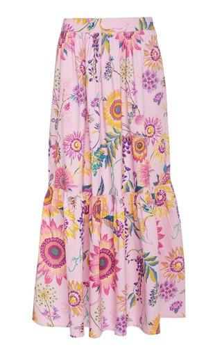 Juliette Printed Cotton Skirt