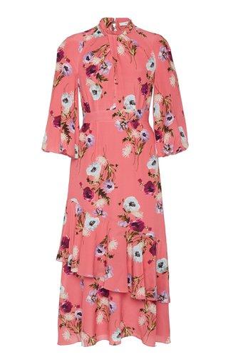 Verona Floral-Print Crepe Midi Dress