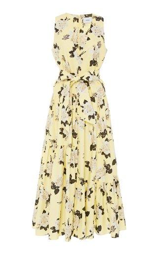Mimosa Tiered Floral-Print Maxi Dress