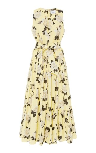 Mimosa Tiered Floral-Print Maxi Dress