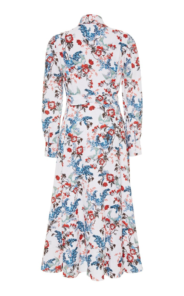 Josianne Printed Linen Midi Dress