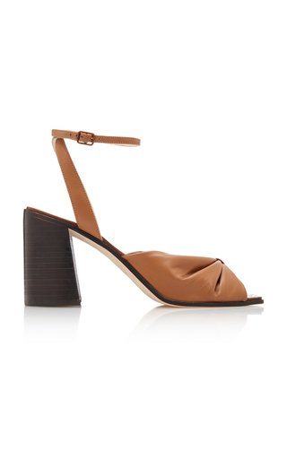 Jasie Gathered Leather Sandals