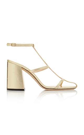 Linley Metallic Leather Sandals