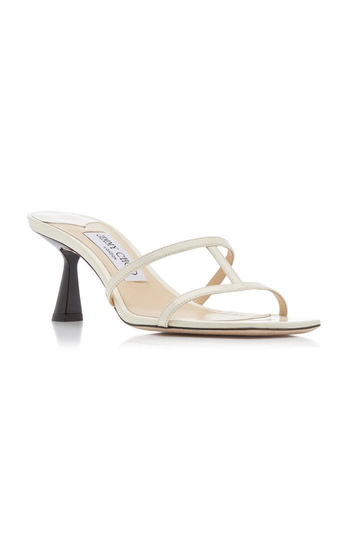 Ria Two-Tone Leather Sandals