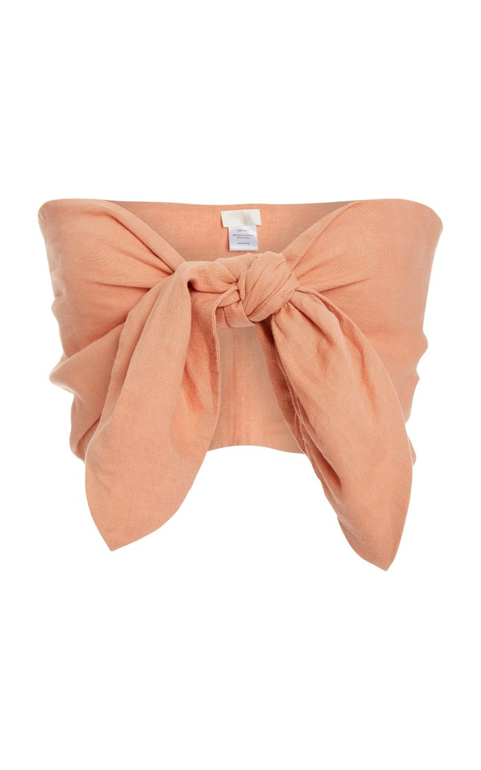 Micky Knot-Detailed Bandeau Top