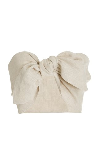Exclusive Micky Knot-Detailed Bandeau Top