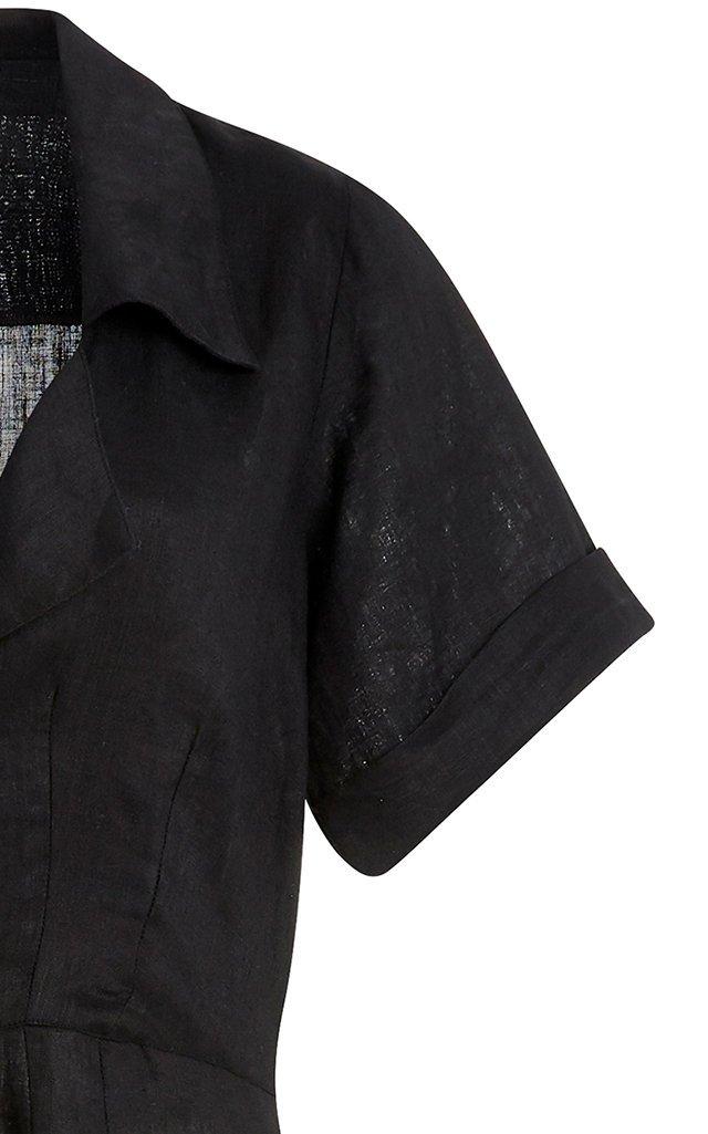 Elia Linen Midi Shirt Dress