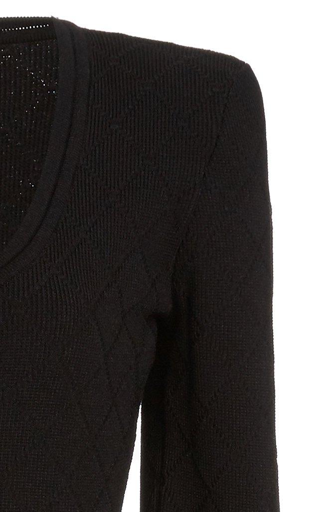 Zip-Front Crepe Bodysuit