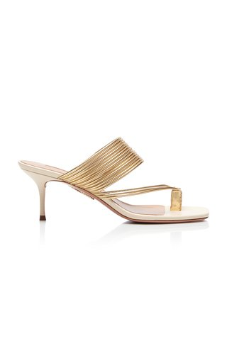 Sunny Ribbed Leather Sandals