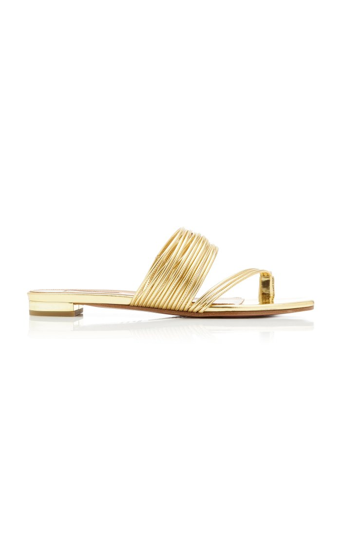 Sunny Metallic Leather Sandals