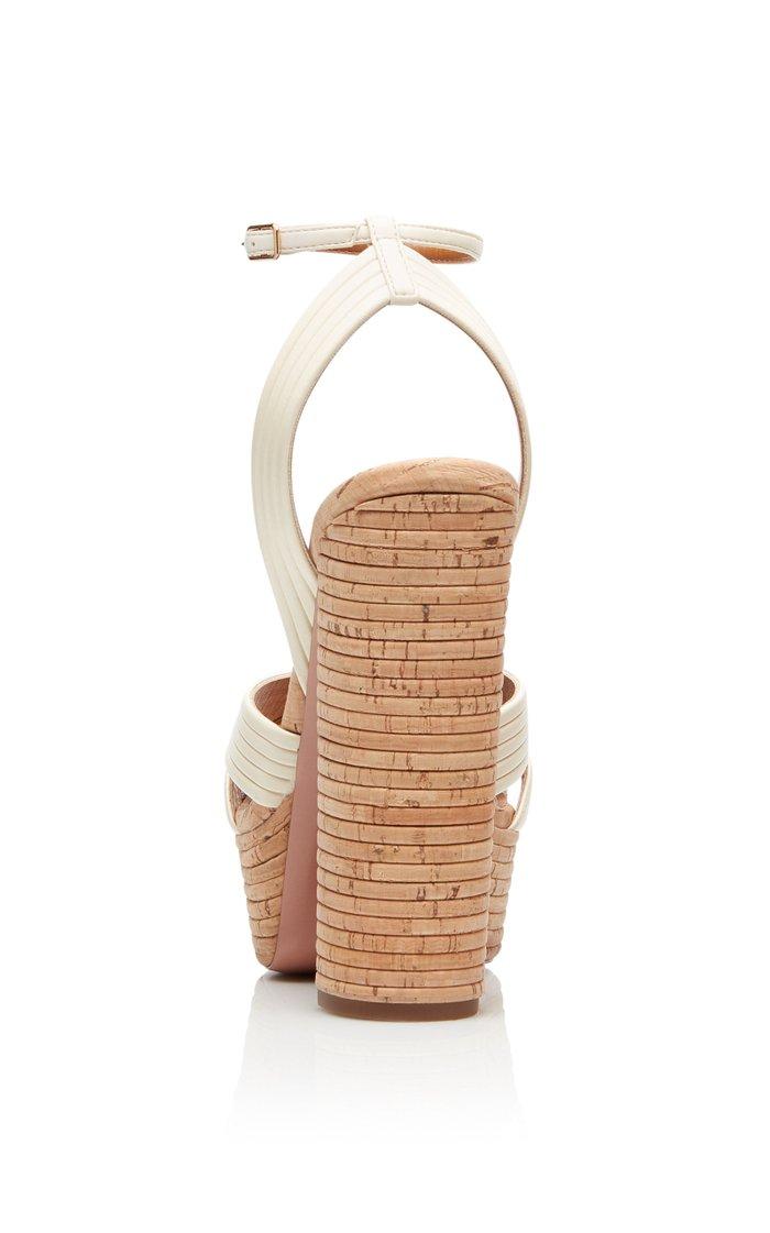 Sundance Plateau Leather Sandals