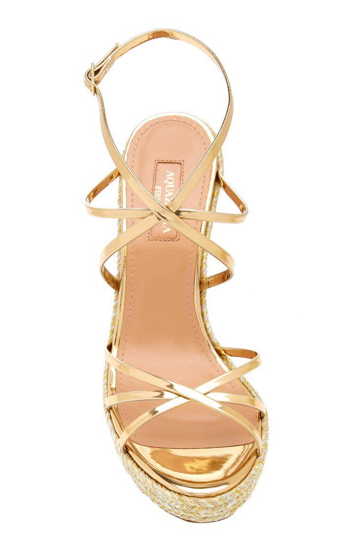 Gin Metallic Leather Espadrille Sandals
