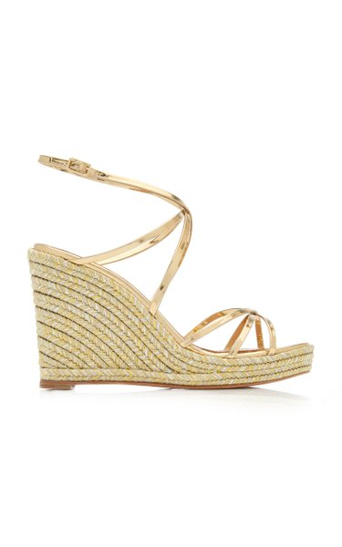 Gin Metallic Leather Espadrille Sandals
