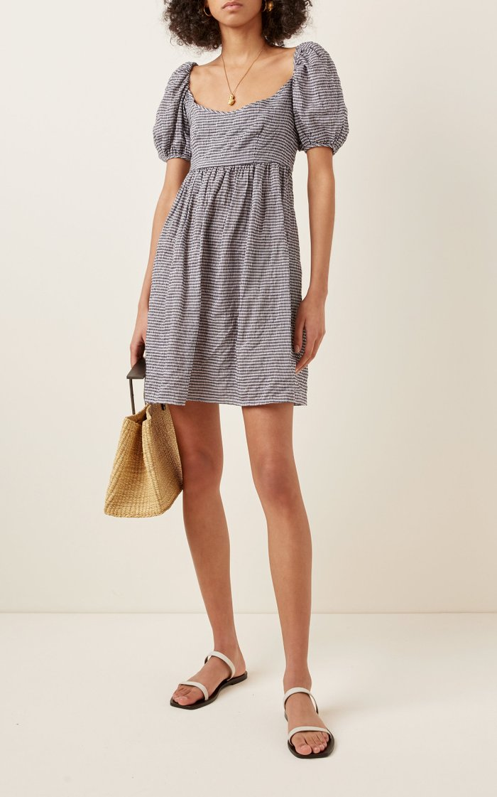 Delfina Printed Cotton-Blend Mini Dress