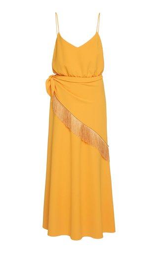 Handkerchief Crepe de Chine Midi Dress