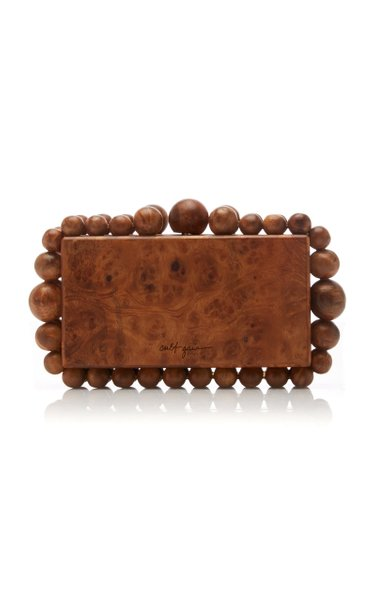 Eos Burled Wood Box Clutch