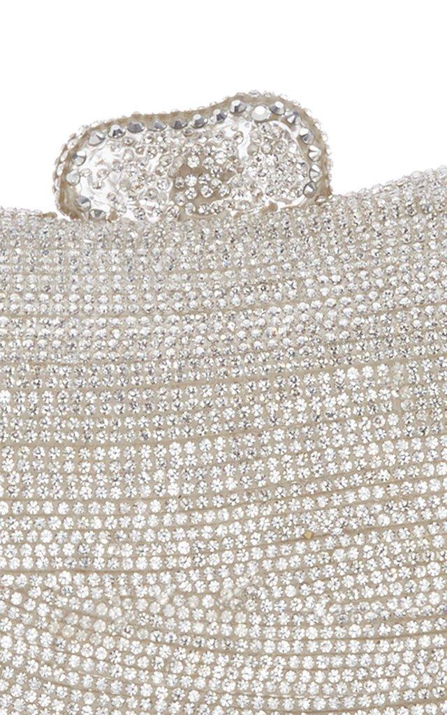 Tallulah Embellished Silver-Tone Clutch