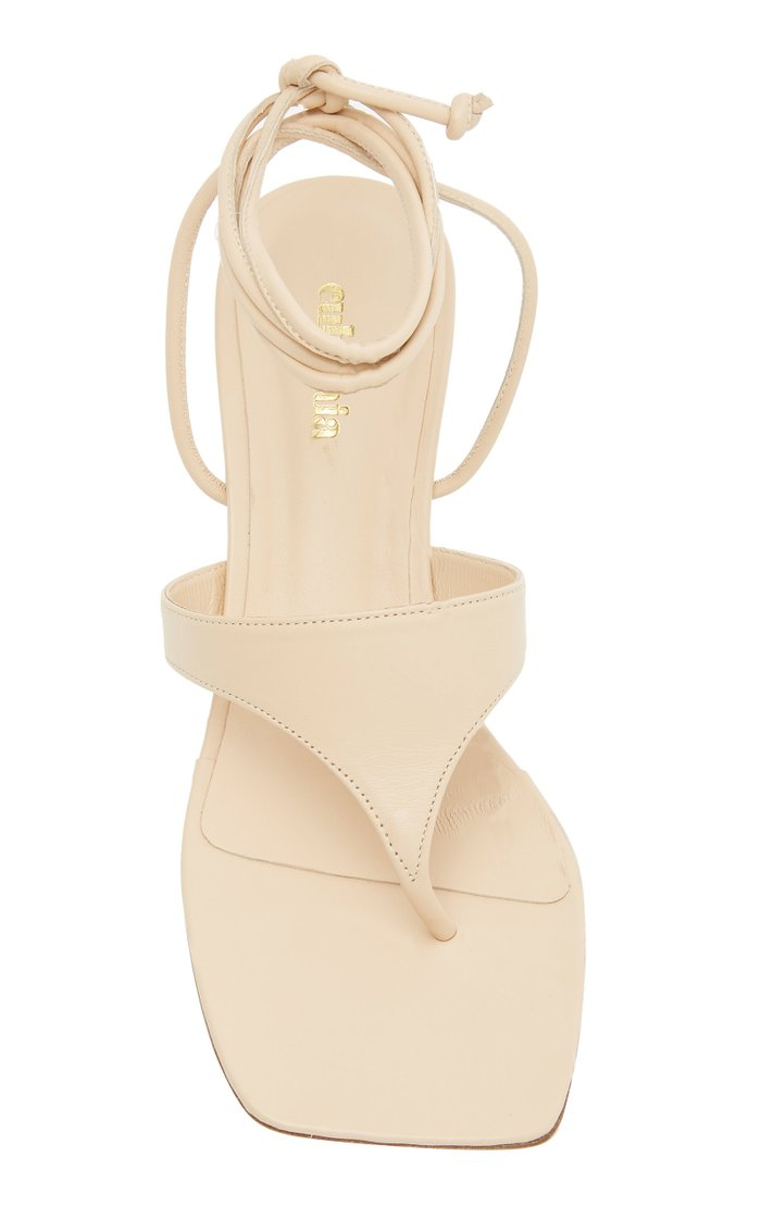 Vicky Tie-Detailed Leather Sandals