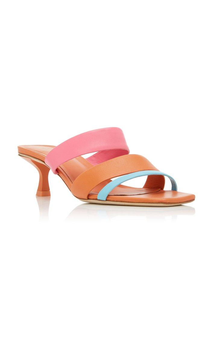 Roksana Color-Block Leather Sandals