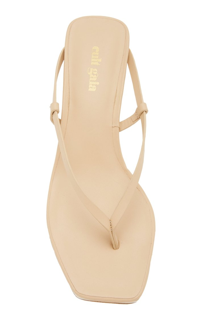 Zena Two-Tone Leather Sandals